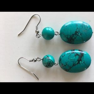 Jewelry - Authentic turquoise drop earrings!